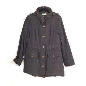 Boden Grey  Hooded Anorak Jacket Size 12